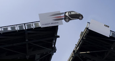 Smart Car Bridge Advertisement