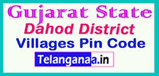 Dahod District Pin Codes in Gujarat  State
