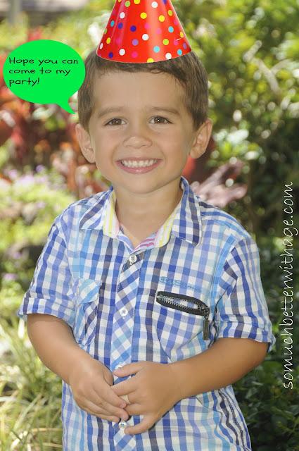 Safari birthday invitations www.somuchbetterwithage.com