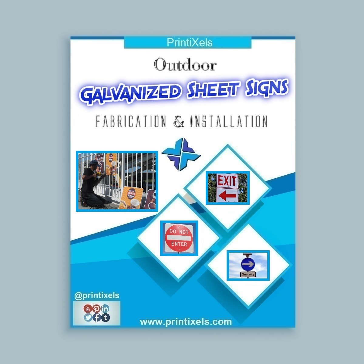 Galvanized Sheet Metal Signs - Fabrication & Installation