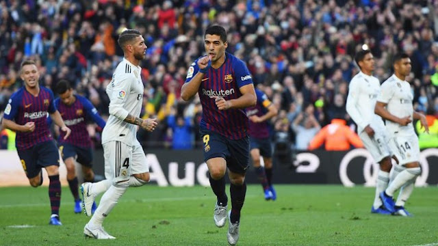 Suarez Hat-trick, Barcelona Lumat Madrid 5-1