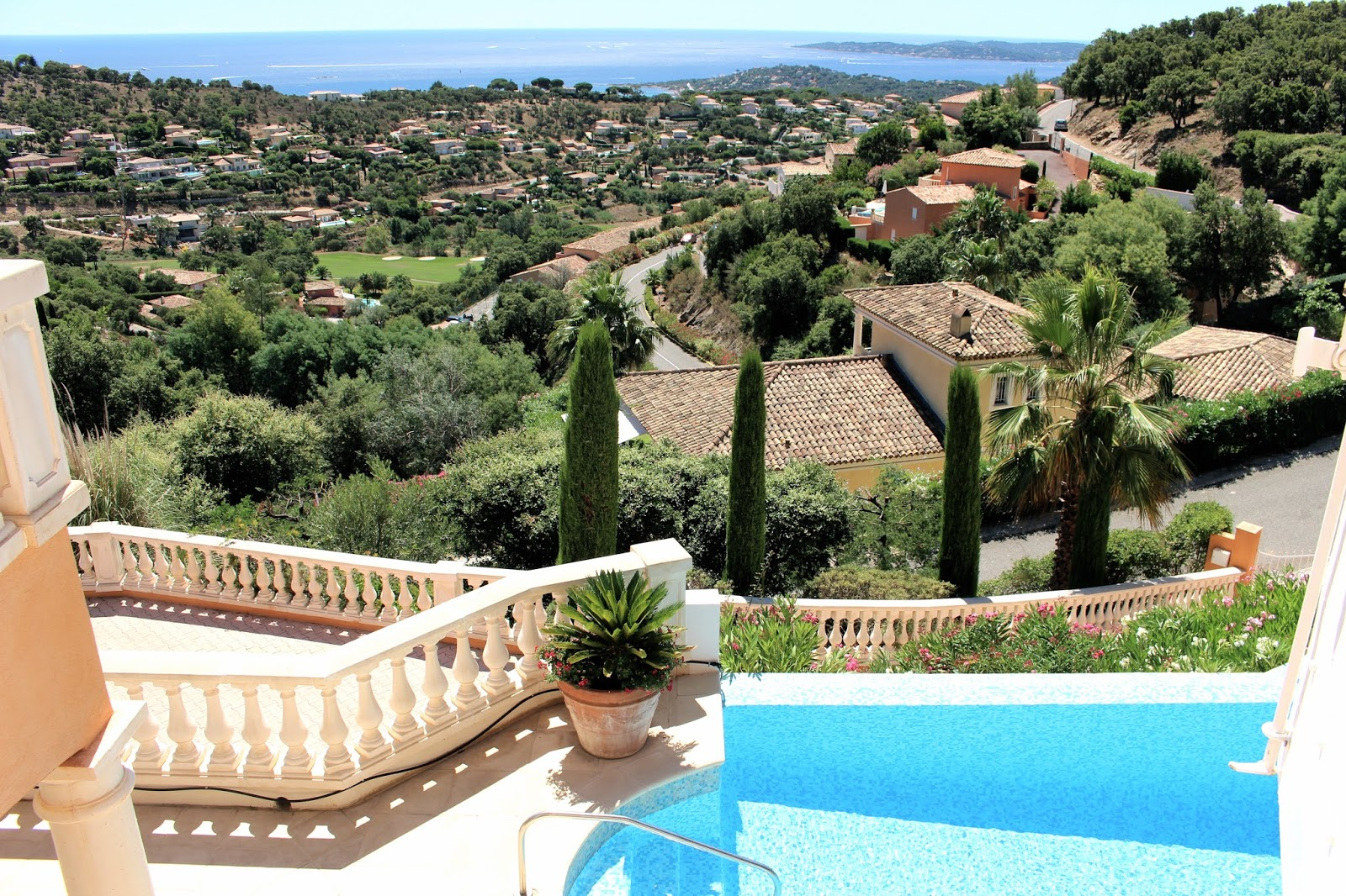 View from a luxury villa in Saint Maxime