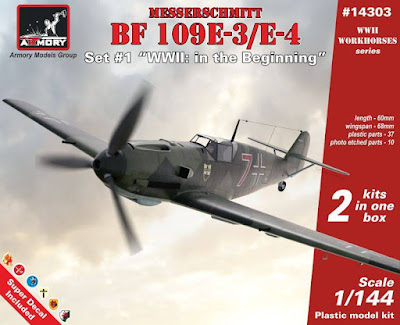 1/144 Bf 109E, Set #1, from Armory Models Group