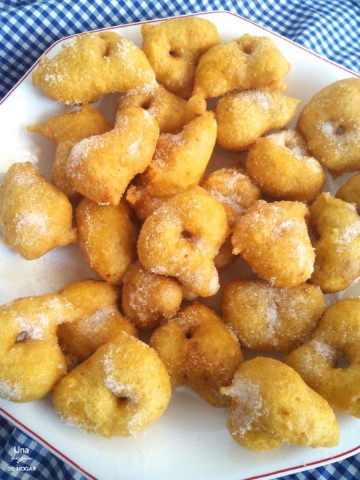 ración de buñuelos de calabaza valencianos