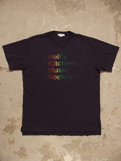 "Engineered Garments ""Exclusive T-Shirt / Hell's Kitchen Music Society Print"""