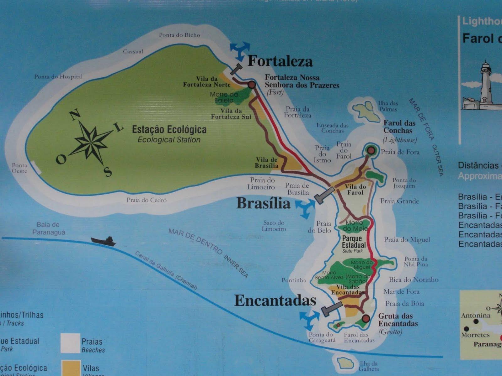 Mapas de Paranaguá e Ilha do Mel