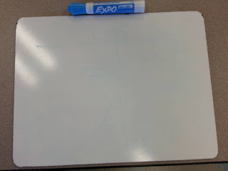 Setting up indivudal white board bags for students- to help with behavior and classroom management