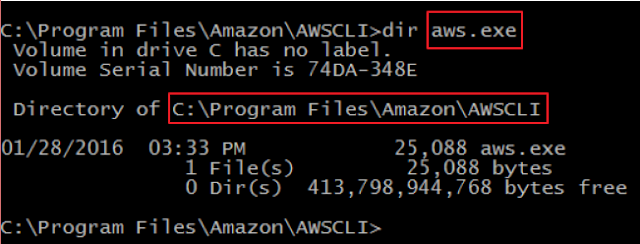 How To Install and Configure AWS CLI for Windows | Information