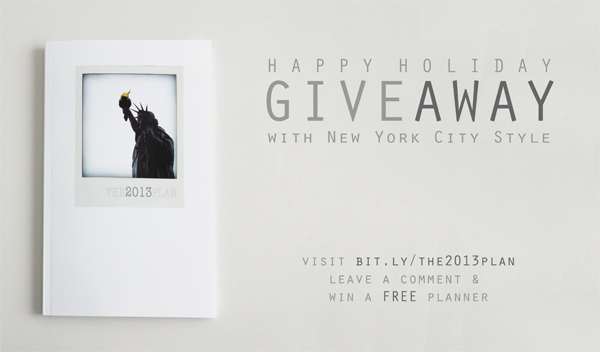 Happy Holiday Giveaway - The 2013 Plan