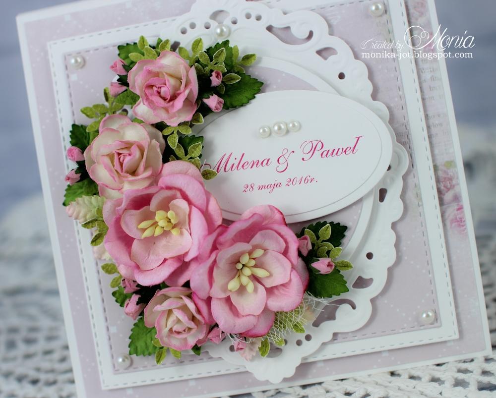 How to scrapbook wedding cards - Wedding Pink Card