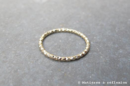 Soldes bijoux Trois Petits Points bague vermeil Eclat