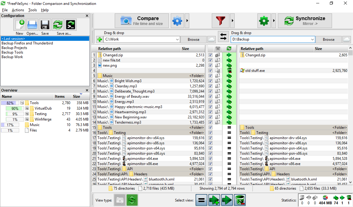 FreeFileSync 10.13