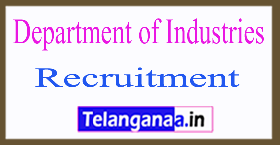 Department of Industries Recruitment Notification 2017