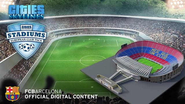 El Barça incluido en el juego premiado de Cities:Skylines