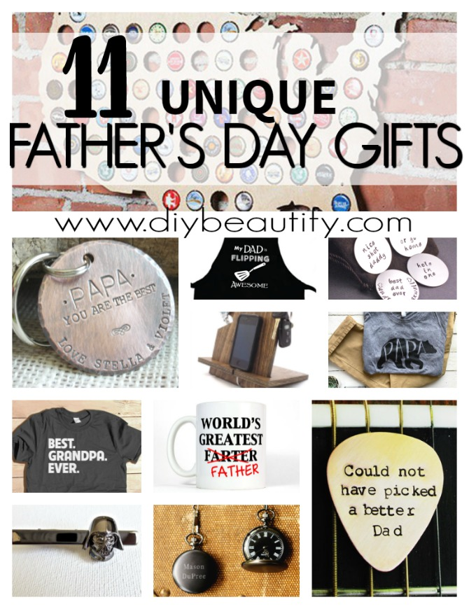 Finding great Father's Day gifts are a struggle for most of us! I've put together a roundup of some of the very best gift ideas for fathers and grandpas! Check it out at diy beautify!