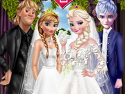 ملابس زفاف الاخوات فروزن