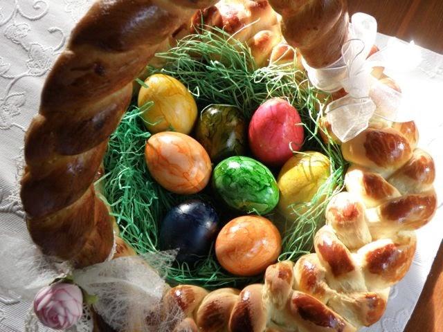 Osterkorb aus Hefeteig backen