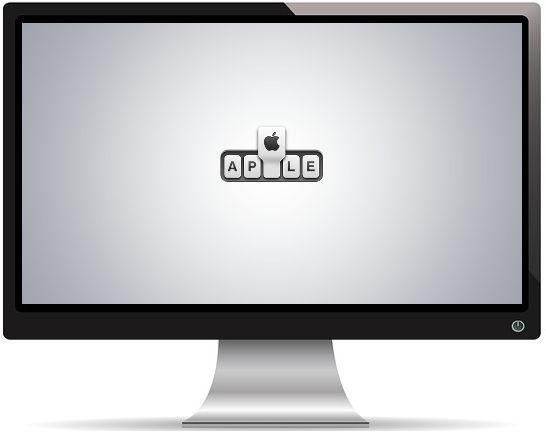 Logo Apple Plus Pomme Gris - Fond d'écran en Full HD 1080p