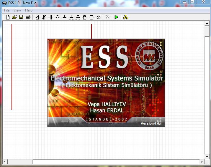 Tampilan Awal Saat Membuka Software ESS