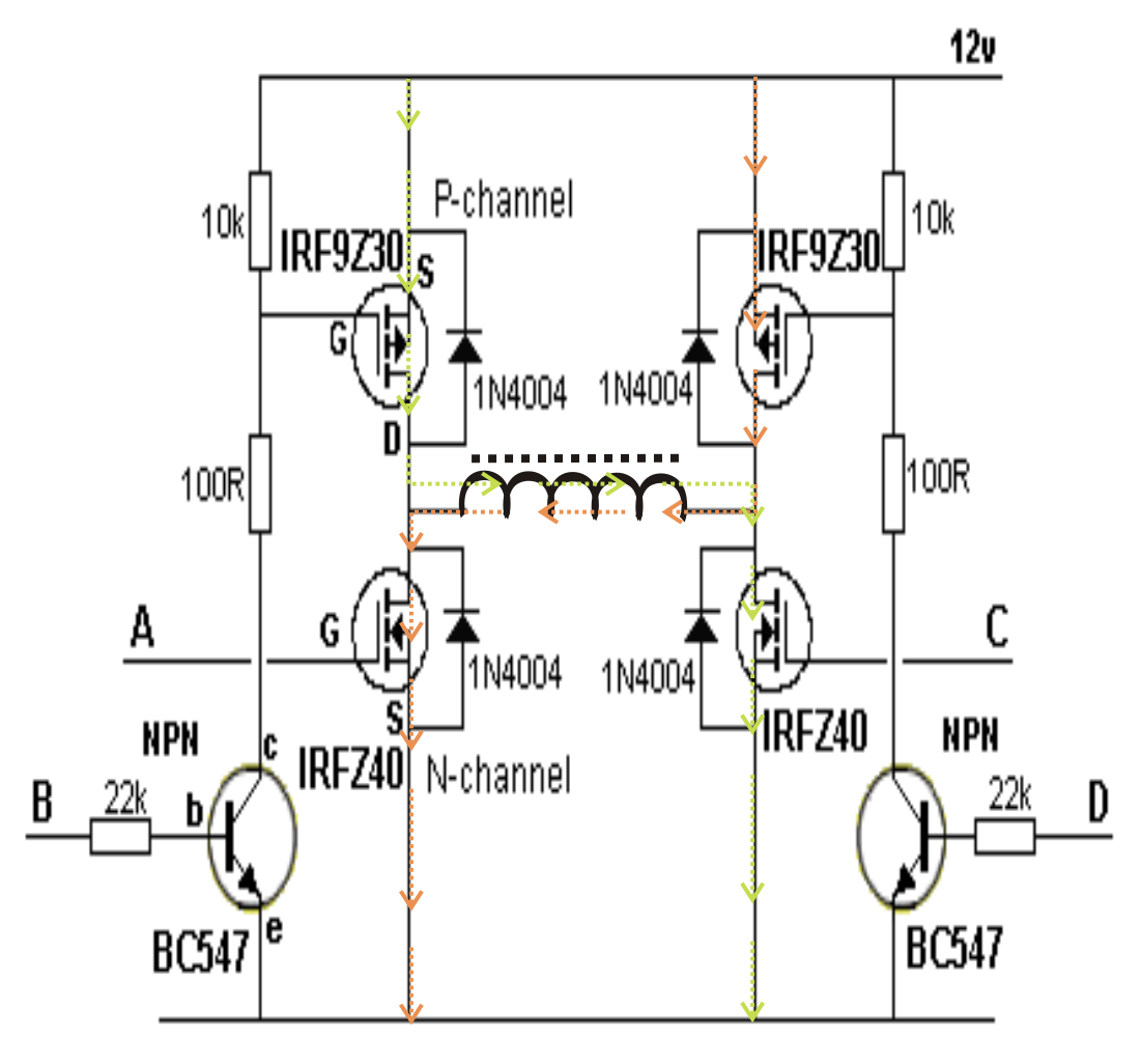 H Brige Dc To Ac Inverter Diagram