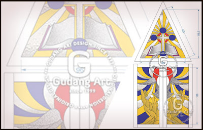 Motif Kaca Patri Gereja