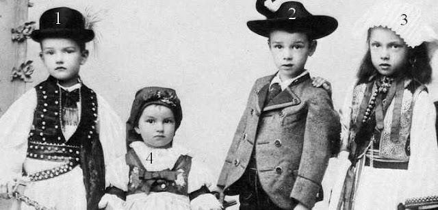 Hubert Salvator, Franz Karl, Elisabeth Franziska et Hedwig d'Autriche