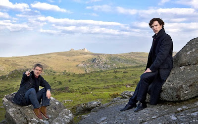 sherlock holmes john watson dartmoor hounds of baskerville poster wallpaper image picture screensaver