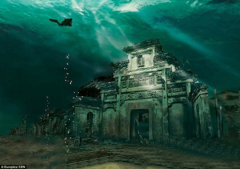 Qiandao Lake Wikipedia - shicheng underwater city
