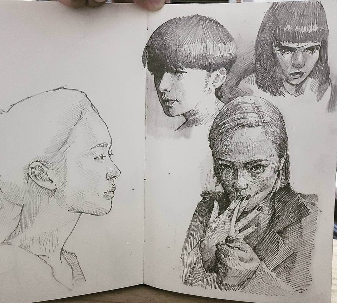 05-Yun-Ho-Kim-Expressions-in-Different-Pencil-Portrait-Styles-www-designstack-co