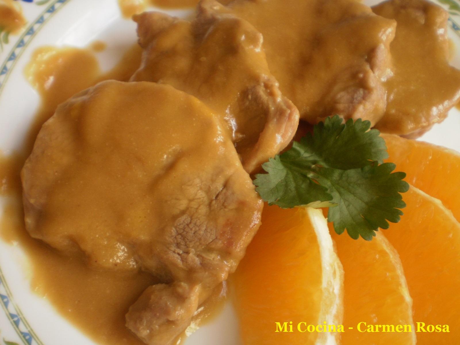 Mi cocina solomillo en salsa de naranjas de malaga for Mi cocina malaga