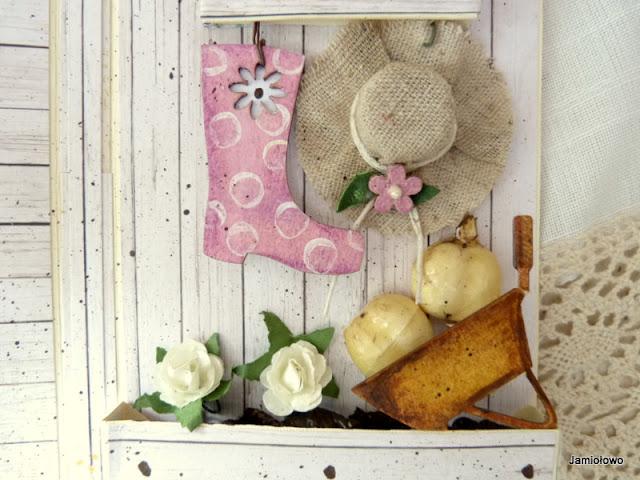 skrzynka z kwiatami i inne ogrodowe akcesoria