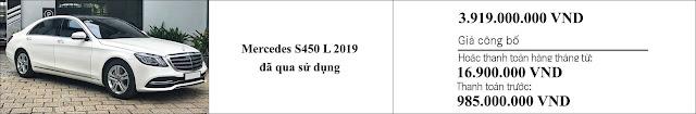 Giá xe Mercedes S450L 2019 hấp dẫn bất ngờ