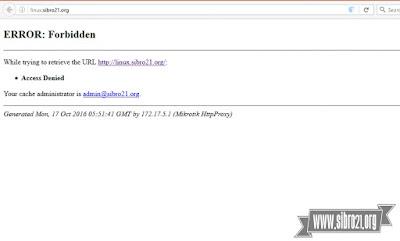 Selanjutnya coba di laptop klien akses http://linux.sibro21.org kalo sukses akan tampil gambar dibawah ini
