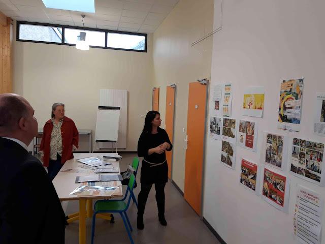Présentation des deux projets de nos associations à monsieur le sous-préfet de Chinon dans les locaux de l'accueil loisir de Saint-Michel-sur-Loire
