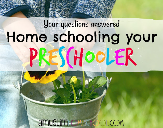 how to homeschool preschool / kindergarten