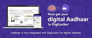 Digital locker for aadhaar card