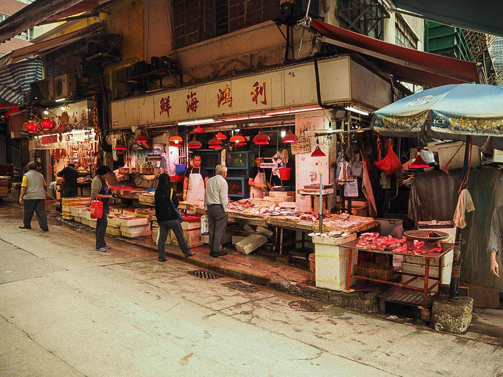 Butchers shop Hong Kong