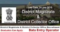 District Magistrate & District Collector Office Recruitment 2015
