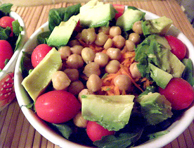 Salad with Chickpeas for Protein