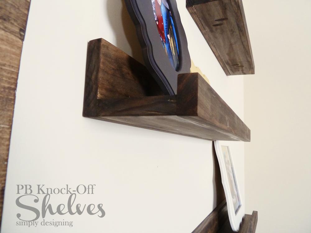 DIY PB Knock-Off Shelves | #diy #homedecor #knockoff