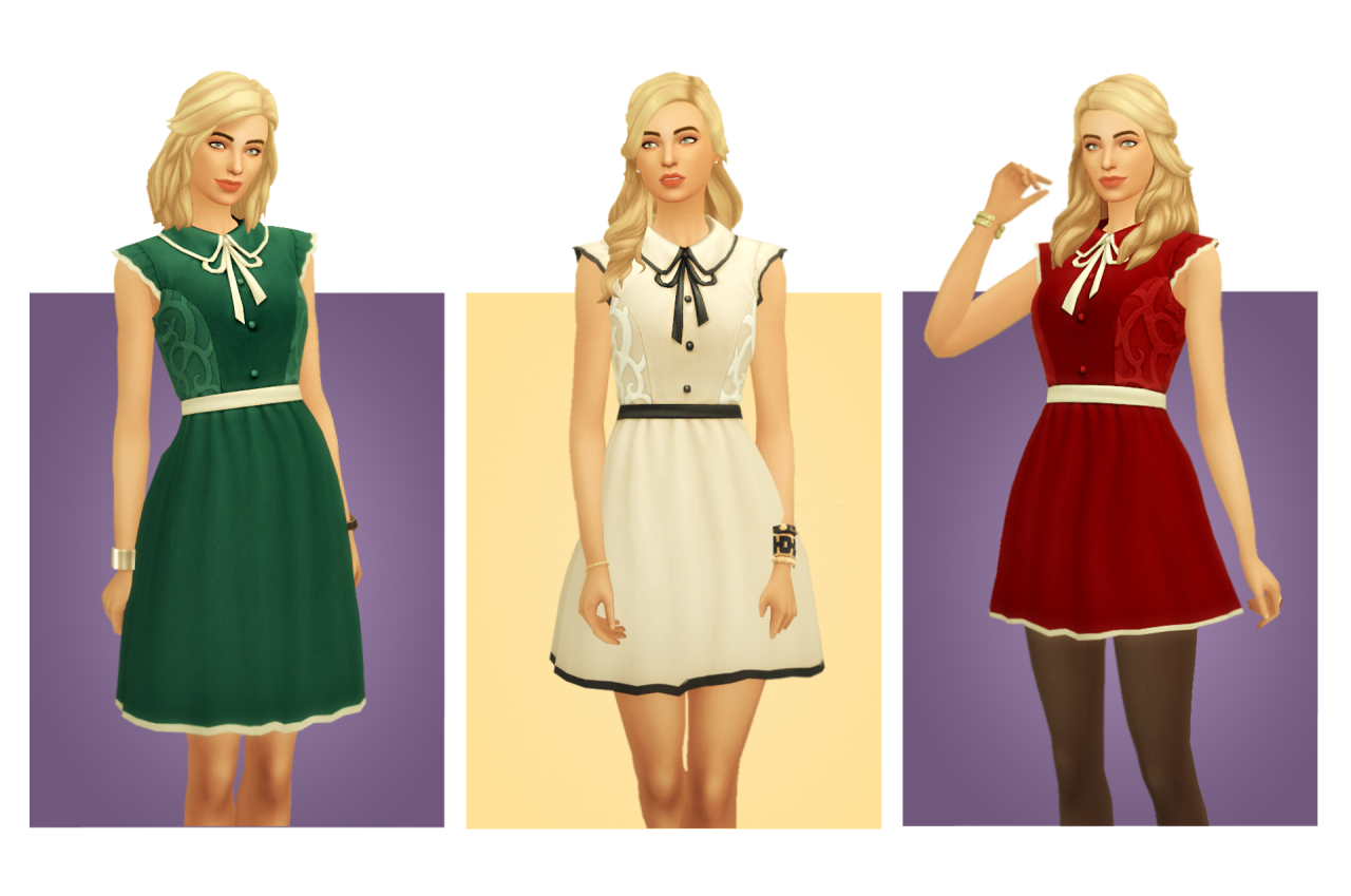 My Sims 4 Blog Emilee Dress By Blogsimplesimmer