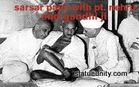 Sardar Patel with Gandhi ji