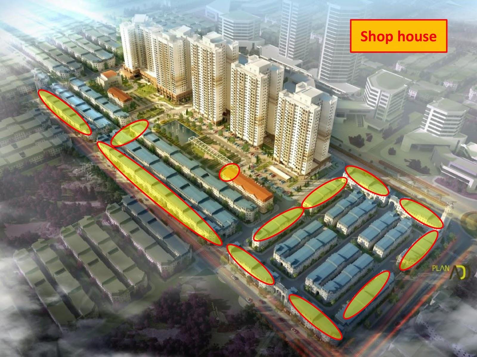 Khu Shophouse dự án liền kề Cleve Văn Phú