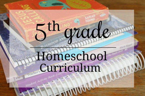 Homeschool curriculum choices for a 5th grader