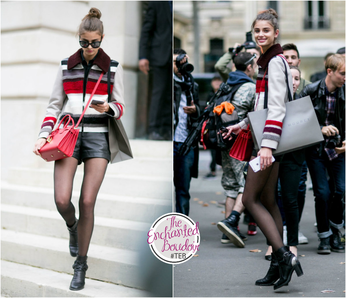 Models Street Style Taylor Hill At Pfw S S 2016 The Enchanted Boudoir