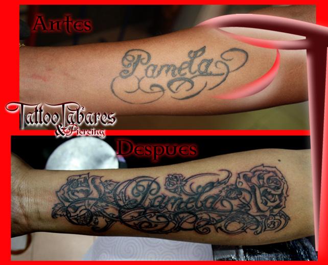Tattoos Retoque Nombre Rosas