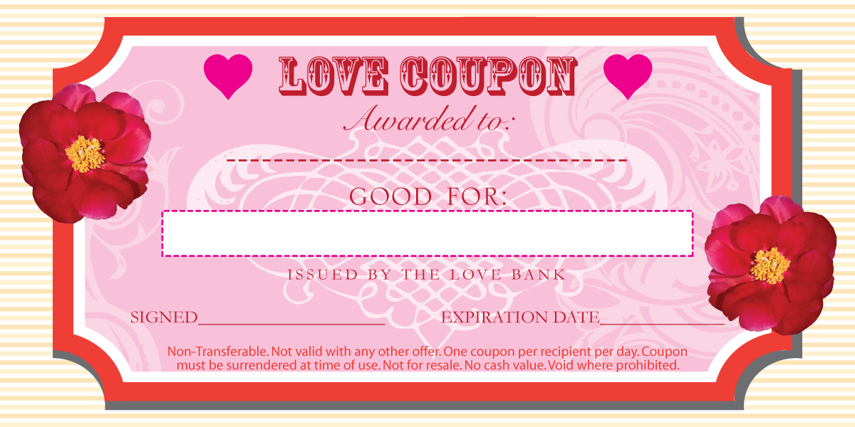 Valentines Day Coupon Template - printable coupon templates free