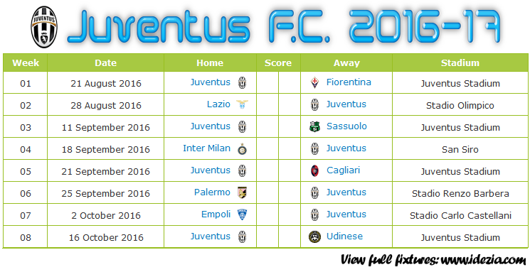 Download Jadwal Juventus F.C. 2016-2017 File JPG - Download Kalender Lengkap Pertandingan Juventus F.C. 2016-2017 File JPG - Download Juventus F.C. Schedule Full Fixture File JPG - Schedule with Score Coloumn