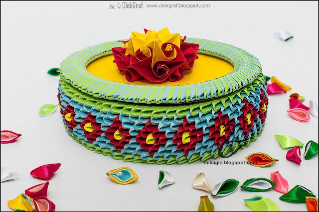 499. Szkatułka z origami / 3d origami flower box