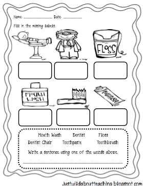 Number Names Worksheets dental health printables : Just Wild About Teaching: Dental Healthy Craftivity Packet!